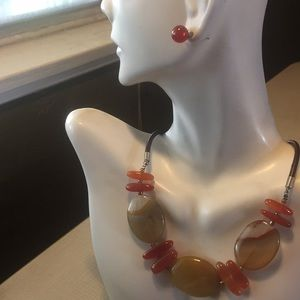 Jewelry - Natural Red Agate stylish Set